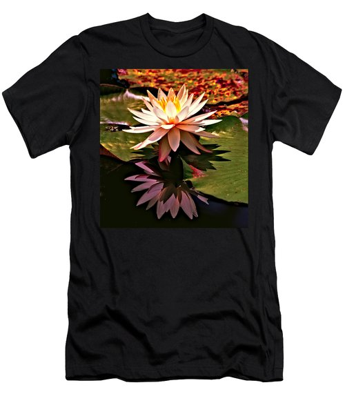 Men's T-Shirt (Slim Fit) featuring the photograph Cypress Garden Water Lily by Bill Barber