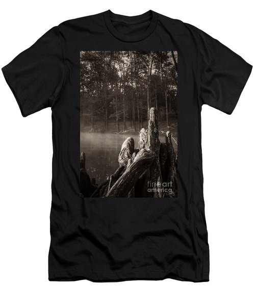 Cypress Knees In Sepia Men's T-Shirt (Athletic Fit)