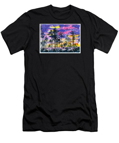 Cypress Sunset Men's T-Shirt (Slim Fit) by Anne Marie Brown