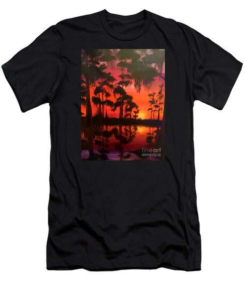 Cypress Swamp At Sunset Men's T-Shirt (Athletic Fit)