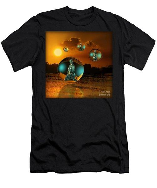 Men's T-Shirt (Slim Fit) featuring the digital art Cyrstal Children Of Sun by Rosa Cobos