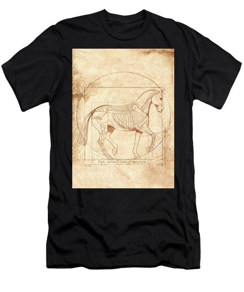 da Vinci Horse in Piaffe Men's T-Shirt (Athletic Fit)