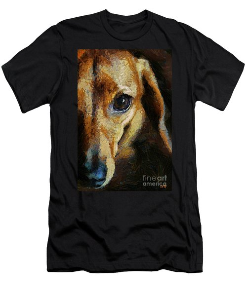 Dachshund Chocolate Men's T-Shirt (Athletic Fit)