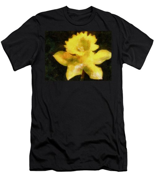 Men's T-Shirt (Slim Fit) featuring the painting Daffodil by Greg Collins