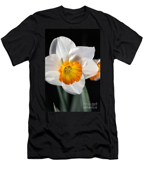 Daffodil In White Men's T-Shirt (Slim Fit) by Joy Watson