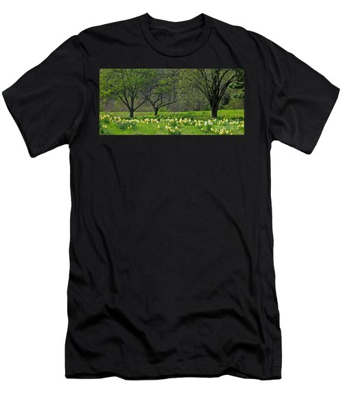 Men's T-Shirt (Slim Fit) featuring the photograph Daffodil Meadow by Ann Horn
