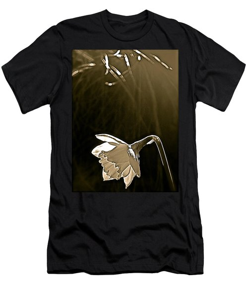 Daffodils 2 Men's T-Shirt (Slim Fit) by Pamela Cooper