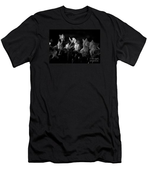 Daffodils In Black And White Men's T-Shirt (Athletic Fit)