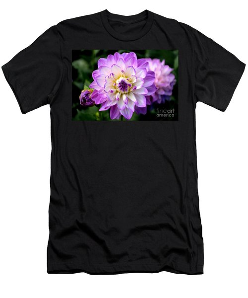 Dahlia Flower With Purple Tips Men's T-Shirt (Athletic Fit)