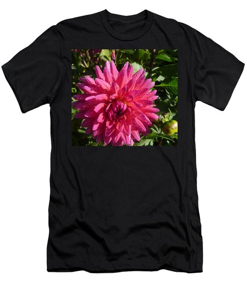 Dahlia Pink Men's T-Shirt (Slim Fit) by Susan Garren
