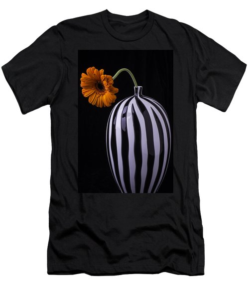 Daisy In Striped Vase Men's T-Shirt (Athletic Fit)