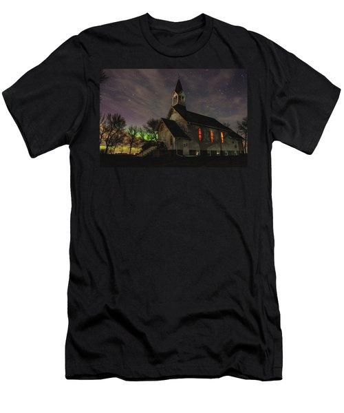 Dakota Territory Aurora  Men's T-Shirt (Athletic Fit)