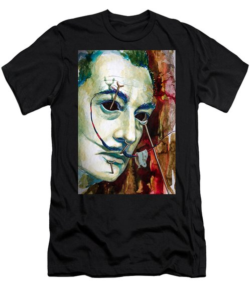 Men's T-Shirt (Slim Fit) featuring the painting Dali 2 by Laur Iduc