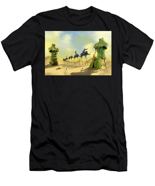 Dali On The Move  Men's T-Shirt (Athletic Fit)