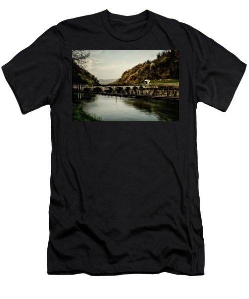 Dam On Adda River Men's T-Shirt (Athletic Fit)