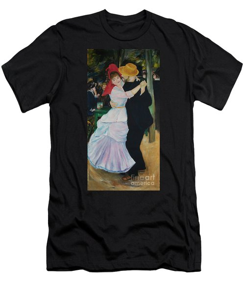 Men's T-Shirt (Slim Fit) featuring the painting Dance At Bougival Renoir by Eric  Schiabor
