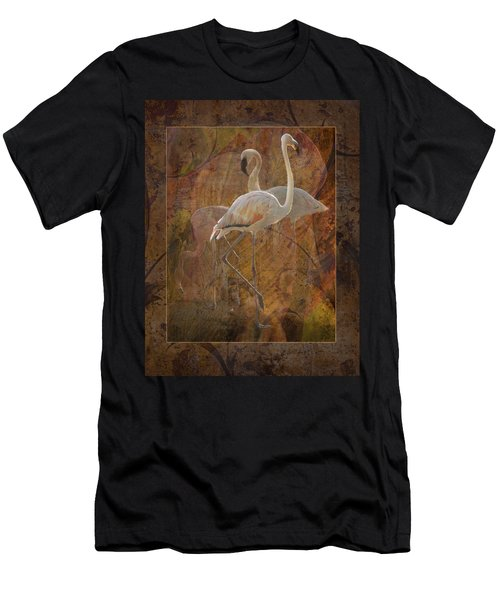 Dance Of The Flamingos Men's T-Shirt (Athletic Fit)