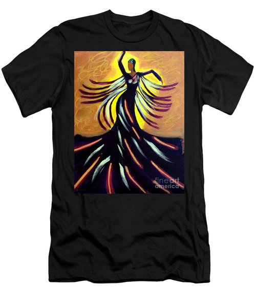 Men's T-Shirt (Slim Fit) featuring the painting Dancer by Anita Lewis