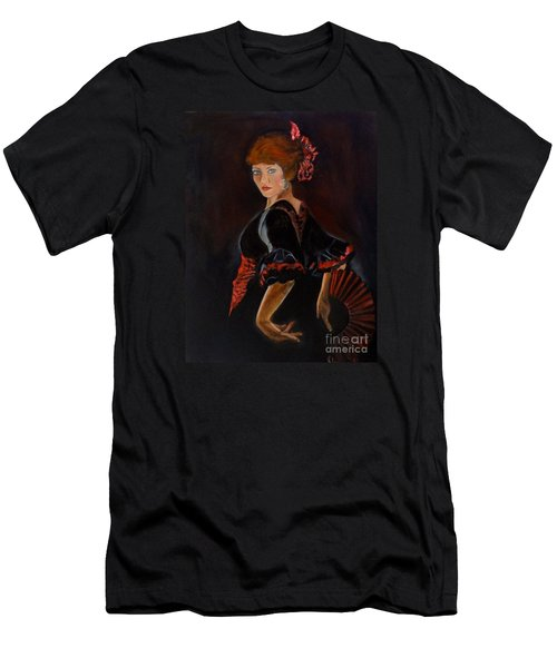 Men's T-Shirt (Slim Fit) featuring the painting Dancer by Jenny Lee