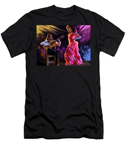Dancing Gypsy Woman Men's T-Shirt (Slim Fit)