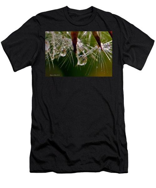 Dandelion Droplets Men's T-Shirt (Slim Fit) by Suzanne Stout