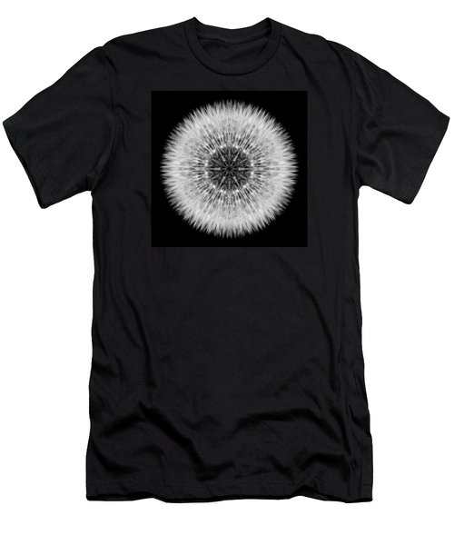 Men's T-Shirt (Slim Fit) featuring the photograph Dandelion Head Flower Mandala by David J Bookbinder
