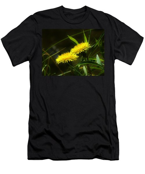 Men's T-Shirt (Slim Fit) featuring the photograph Dandelions by Sherman Perry