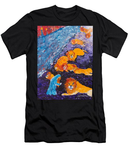 Daniel And The Lions Men's T-Shirt (Athletic Fit)