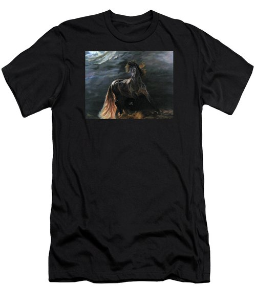 Dappled Horse In Stormy Light Men's T-Shirt (Slim Fit) by LaVonne Hand