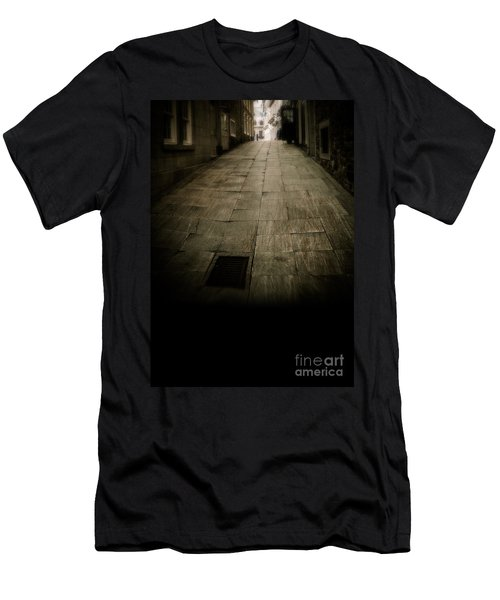 Dark Alley In Old Historic City Men's T-Shirt (Athletic Fit)