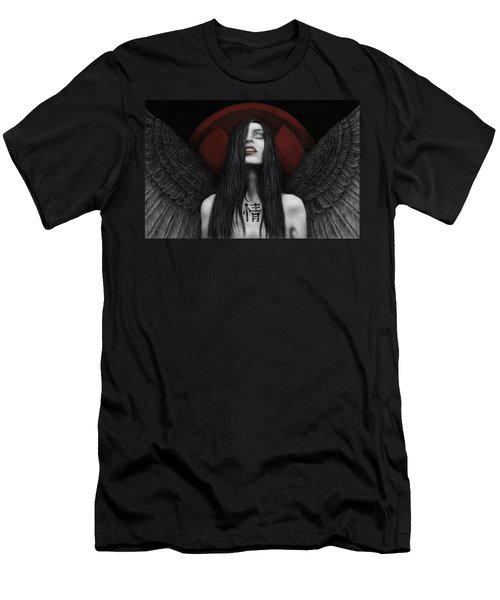 Men's T-Shirt (Slim Fit) featuring the painting Dark Angel by Pat Erickson