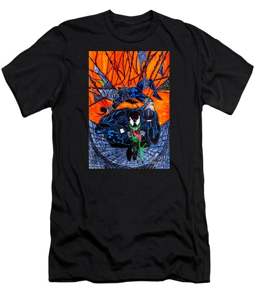 Men's T-Shirt (Slim Fit) featuring the drawing Darkhawk Issue 13 Homage by Justin Moore