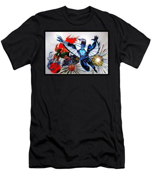 Darkhawk Vs Hobgoblin Focused Men's T-Shirt (Athletic Fit)
