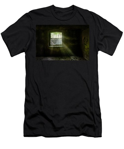Darkness Revealed - Basement Room Of An Abandoned Asylum Men's T-Shirt (Athletic Fit)