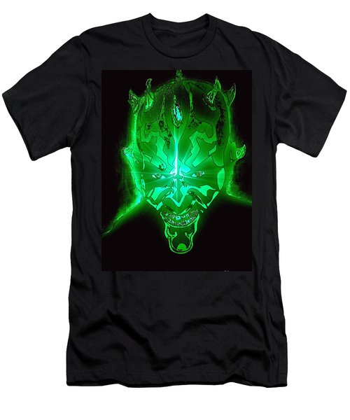 Darth Maul Green Glow Men's T-Shirt (Slim Fit) by Saundra Myles