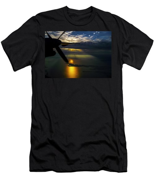 Dash Of Sunset Men's T-Shirt (Slim Fit) by Greg Reed