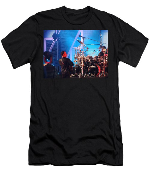 Men's T-Shirt (Slim Fit) featuring the photograph Dave Looks At Carter by Aaron Martens