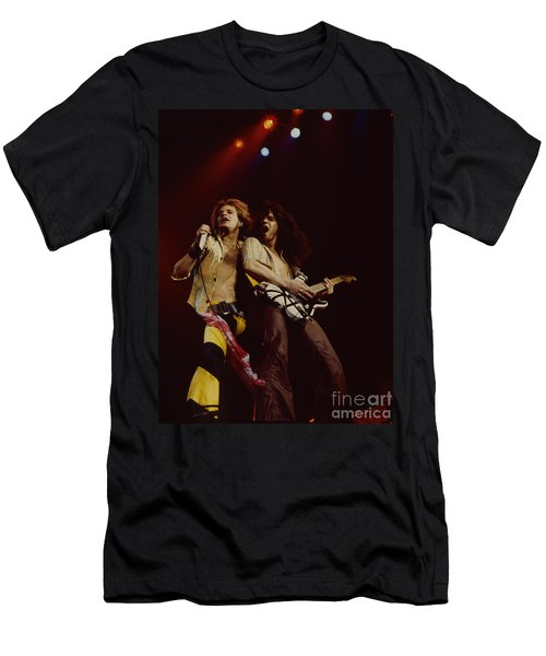 David Lee Roth And Eddie Van Halen - Van Halen- Oakland Coliseum 12-2-78   Men's T-Shirt (Athletic Fit)