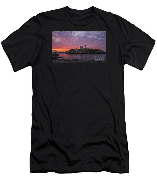 Dawn At The Nubble Men's T-Shirt (Athletic Fit)