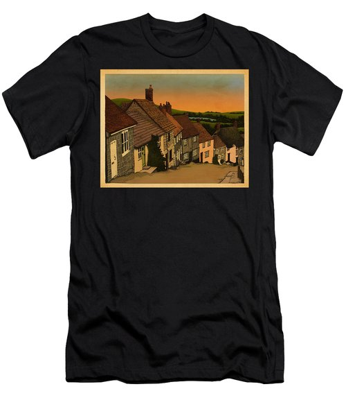 Men's T-Shirt (Slim Fit) featuring the drawing Daybreak by Meg Shearer