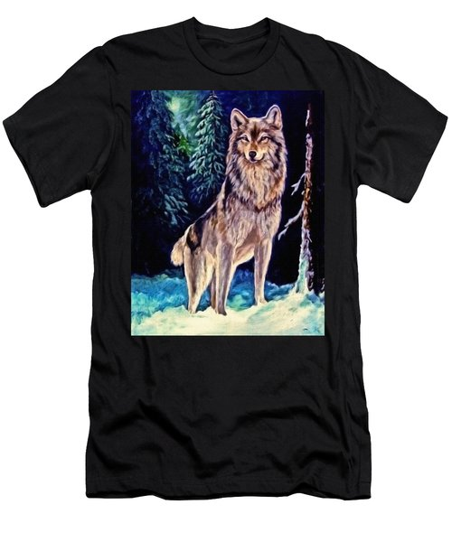 Men's T-Shirt (Slim Fit) featuring the painting Dawn Of A New Day Original Painting Forsale by  Nadine Johnston