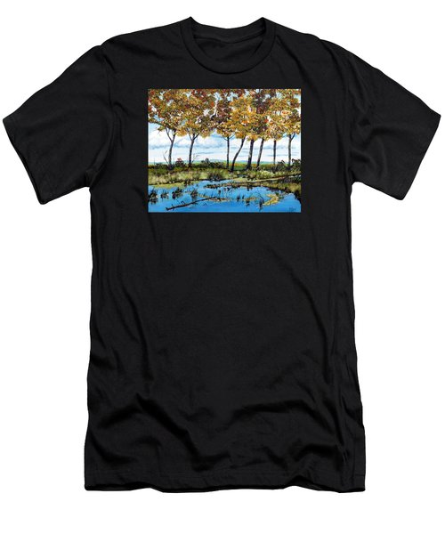 Dawn's Blue Waters Edge  Men's T-Shirt (Athletic Fit)