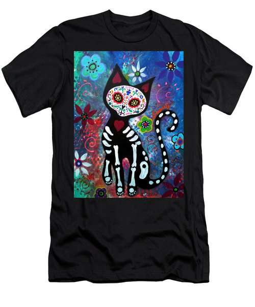 Day Of The Dead Cat Men's T-Shirt (Athletic Fit)