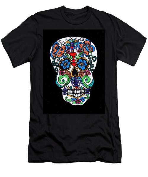 Day Of The Dead Skull Men's T-Shirt (Athletic Fit)