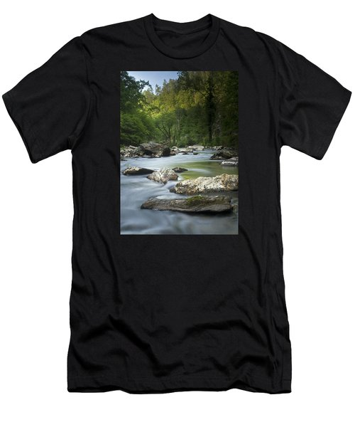 Daybreak In The Valley Men's T-Shirt (Slim Fit) by Andy Crawford