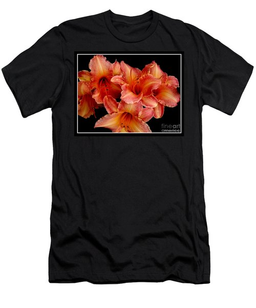 Men's T-Shirt (Slim Fit) featuring the photograph Daylilies 1 by Rose Santuci-Sofranko