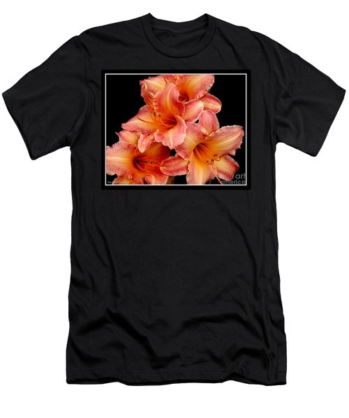 Men's T-Shirt (Slim Fit) featuring the photograph Daylilies 2 by Rose Santuci-Sofranko