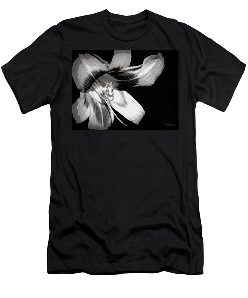 Men's T-Shirt (Slim Fit) featuring the photograph Daylily In Gray by Ludwig Keck