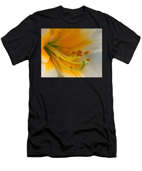 Gold Daylily Close-up Men's T-Shirt (Athletic Fit)