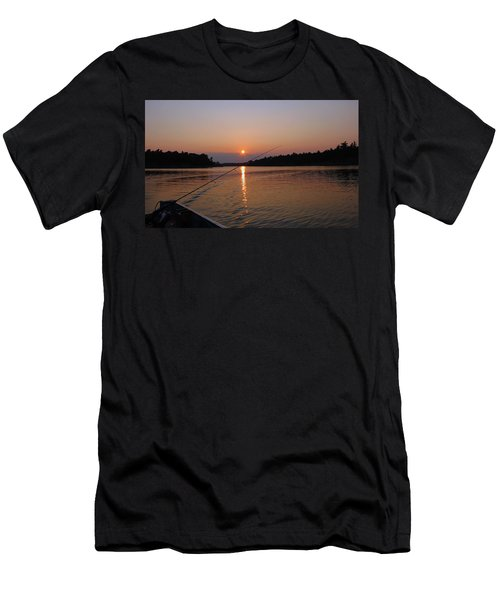 Men's T-Shirt (Slim Fit) featuring the photograph Sunset Fishing by Debbie Oppermann